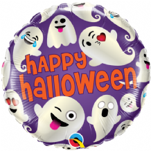 "Halloween Foil Balloon - Emoticon Ghosts (18"") 1pc"